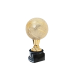 Small Gold Basketball Trophies On Black Base