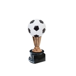 Small Color Soccer Trophies On Black Base