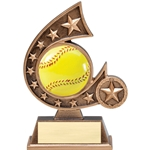 Softball Resin Comet Series Trophies