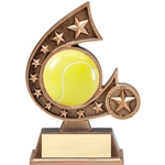 Tennis Resin Comet Series Trophies