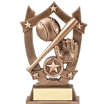 Sports Star Baseball Resin Trophies