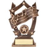 Star Music Resin Trophies