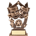 Star Drama Resin Trophies
