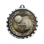 Basketball Gold Diamond Cut Medals
