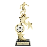 Soccer Female Spin Star Trophies
