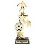 Soccer Male Spin Star Trophies