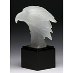 Frosted Eagle Head Trophies