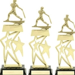 Baseball Double Star Snap Trophies