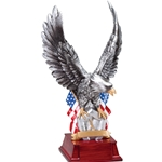 Silver Eagle with Shield and Flag Trophies