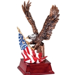 Gold Eagle with Flag Trophies