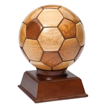 Wooden Soccer Ball Trophies