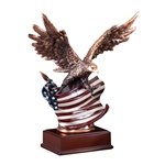 American Eagle with Flag Trophies