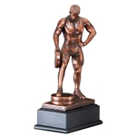Weightlifting Male Bar in Hand Trophies