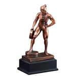 Weightlifting Female Bar in Hand Trophies