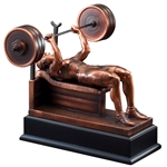 Weightlifting Female Bench Press Trophies