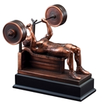 Weightlifting Male Bench Press Trophies