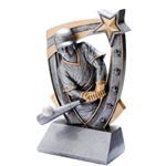 3D Star Baseball Resin Trophies