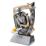 3D Star Softball Resin Trophies