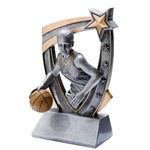 3D Star Female Basketball Resin Trophies