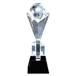 Crystal Globe Awards on Black Crystal Base