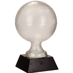 Large Basketball Premier Glass Trophies