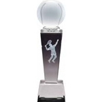 Male Tennis Sport Crystal Trophies