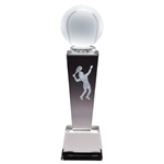 Female Tennis Sport Crystal Trophies