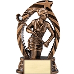 Lacrosse Female Running Star Trophies