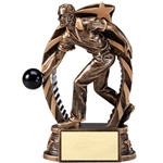 Male Bowling Running Star Trophies