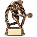 Male Tennis Running Star Trophies