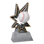 Baseball Bobble Resin Trophies