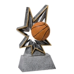 Basketball Bobble Resin Trophies