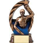 Swimming Male Running Star Trophies