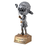 Female Lacrosse Bobblehead Trophies