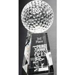 Tapered Golf Crystal Awards