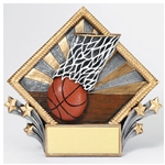 Basketball Diamond Plate Trophies