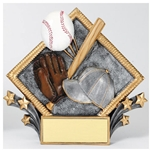 Baseball Diamond Plate Trophies