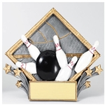 Bowling Diamond Plate Trophies