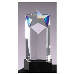 Crystal Star Award with Black Base