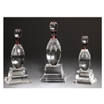 Bowling Crystal Trophies
