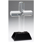 Crystal Cross Trophy on Black Marble Base