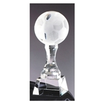 Crystal Soccer Ball Trophies