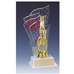 Gymnastics Red Diamondback Trophies