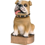 Brown Bulldog Mascot Bobblehead Trophies