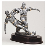 Male Soccer Double Action Trophies