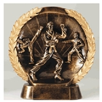 Karate Round Resin Plate Trophy