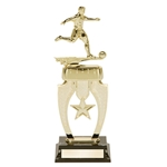 Soccer Male Star Snap Trophies