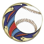 Baseball Color Star Medals
