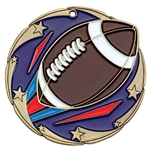 Football Color Star Medals