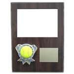 Softball Themed Photo Plaques